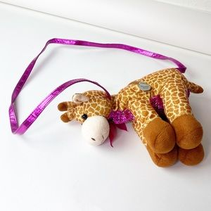 Poochie & Co Giraffe Plush Bag Purse Kids Girls